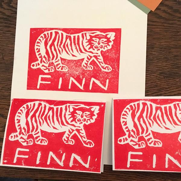 Lino Printing With The Makery