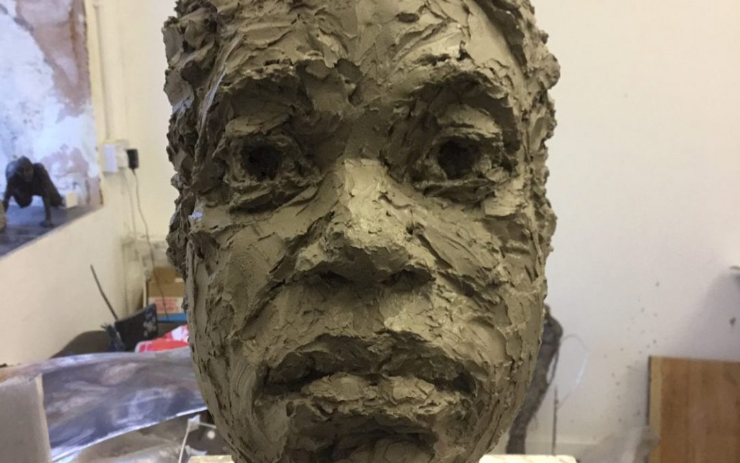 Portrait Head in Clay