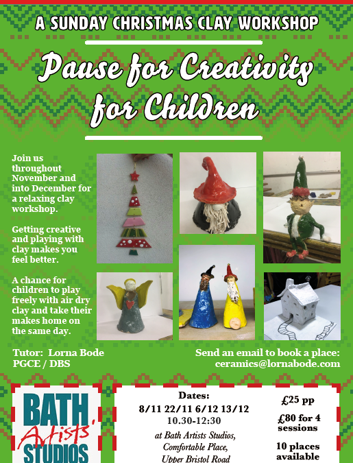 Sunday Xmas Pause for Creativity for Children